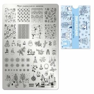 Moyra stamping plate 101 Wintertime 1
