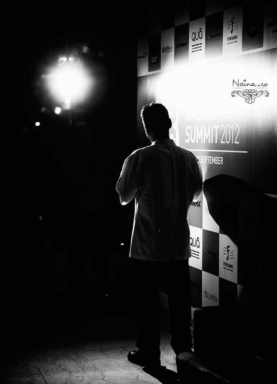 Chef Vineet Bhatia of Rasoi at the CSSG Gastronomy Summit, 2012 photographed by photographer Naina Redhu of Naina.co