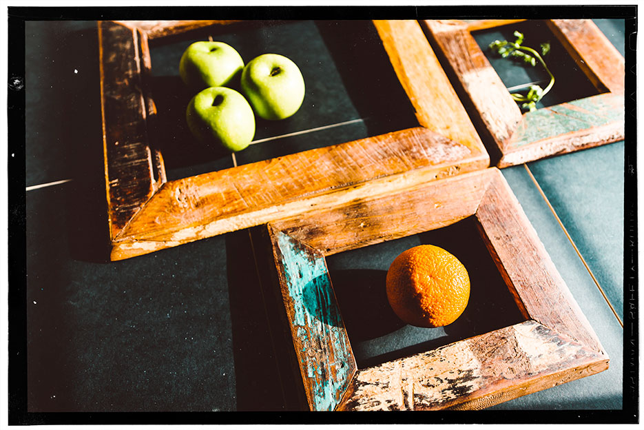 Concept. Layout. Frames & Fruit. Photography by professional Indian lifestyle photographer Naina Redhu of Naina.co