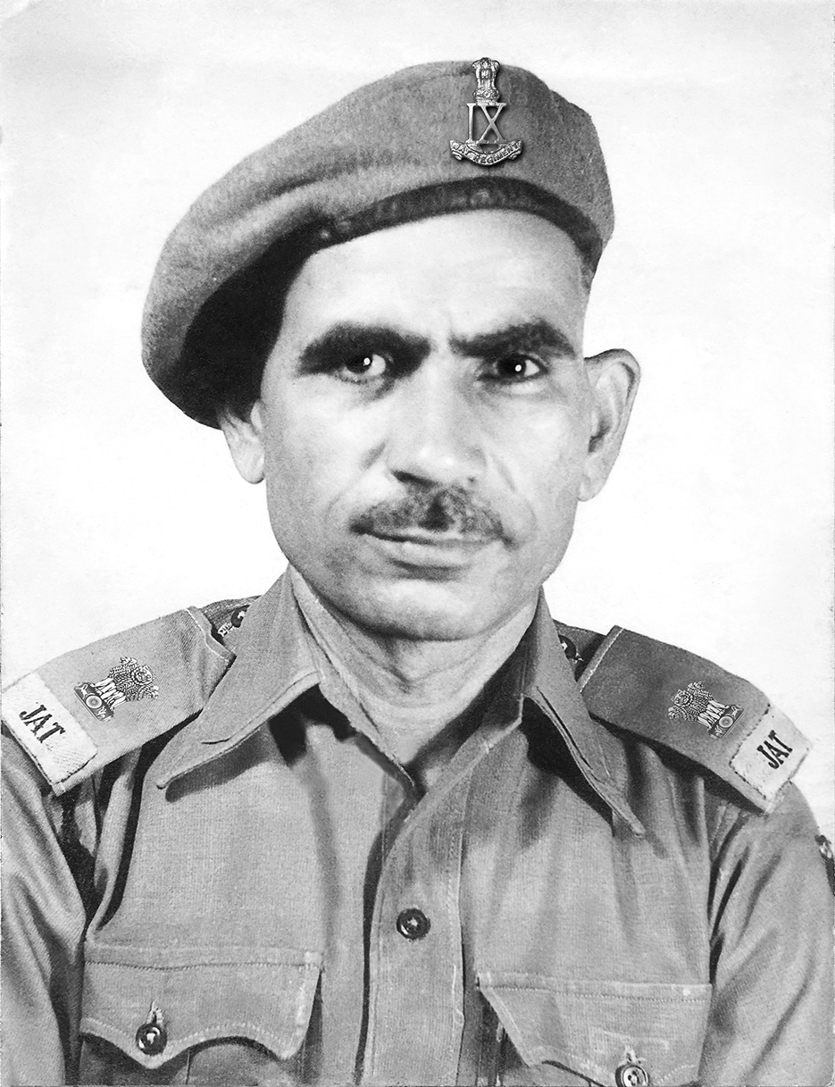 Major Ranbir Singh 1940's portrait restoration and re-printing photography project. Photographer Naina Redhu