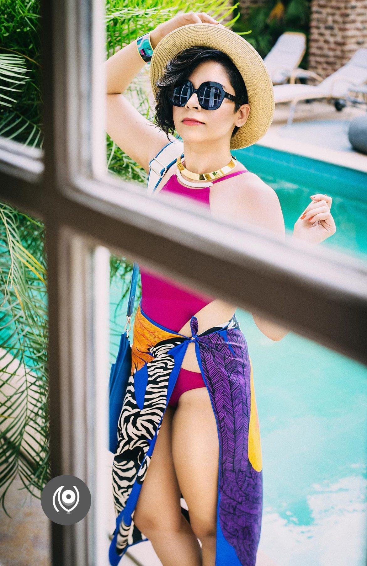 #CoverUp 40, Hermes Swimwear, Poolside Blue Brilliance, #EyesForLuxury, Naina.co Luxury & Lifestyle, Photographer Storyteller, Blogger.