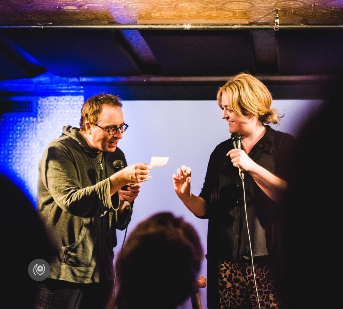 I'm New Here, Can You Show Me Around? Jon Ronson & Maeve Higgins, Union Hall, Brooklyn, #EyesForNewYork #REDHUxNYC Naina.co Luxury & Lifestyle, Photographer Storyteller, Blogger