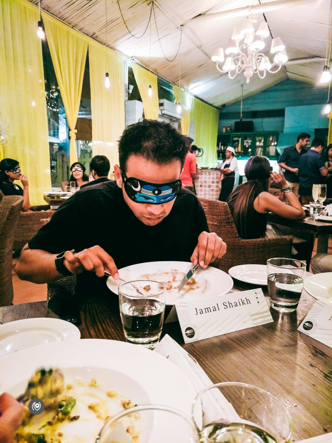 Naina.co, Naina Redhu, FoodTalk, Food Talk India, FoodTalkIndia, FoodTalk India, EyesForDining, Olive, Qutub, New Delhi, Restaurant, Food, Dinner, Blindfold, Blindfold Meal, Blindfolded, Eating, Chef Gaurav, Anjali Batra, Shuchir Suri, PlayClan, Food Photographer, Food Blogger, Luxury Blogger, Luxury Photographer, Lifestyle Photographer, Lifestyle Blogger, EyesForIndia, Dessert, Drinks