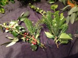 3. Arrange sprigs and tie with twists of wire.