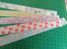 A random selection cut into two and a half inch strips