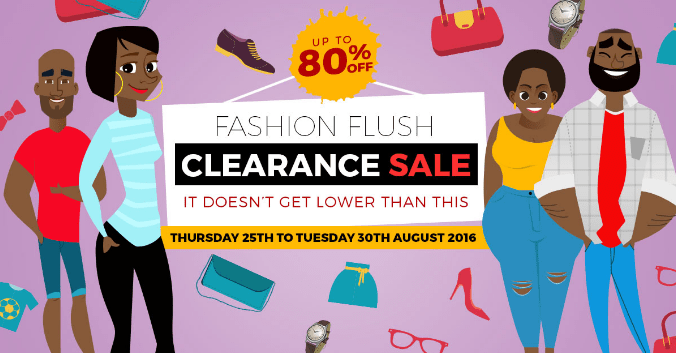 Konga Fashion Flush Clearance Sale - Up to 80% OFF