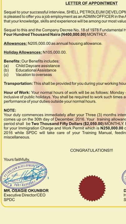 Help About Shell Appointment Letter JobsVacancies