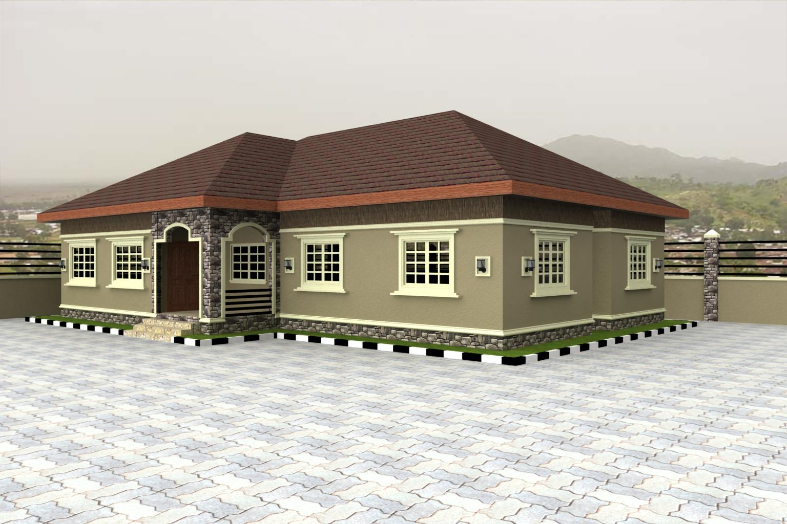 ^ 3 Bedroom Bungalow House Plans In Nigeria. craftsman on flat. cost ...
