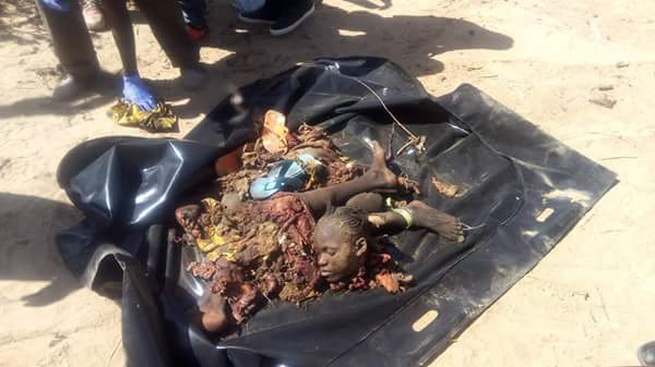 Dismembered Body Of The Female Suicide Bomber At