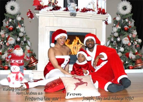 Joseph Yobo AmpFamily Release Christmas Card PHOTOS