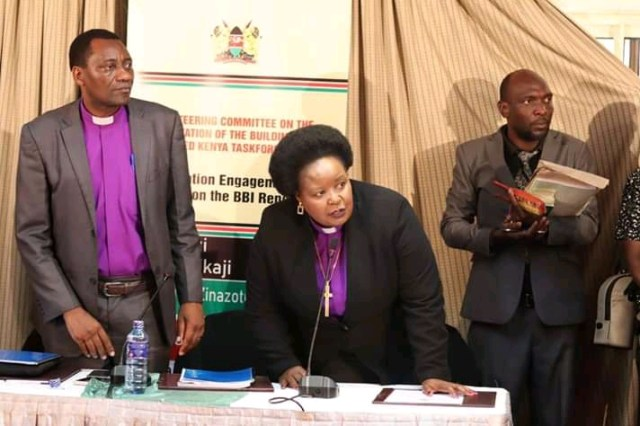 BISHOP MARGARET WANJIRU AND CHURCH LEADERS UNVEILS CHURCH BBI RECOMMENDATIONS. 1