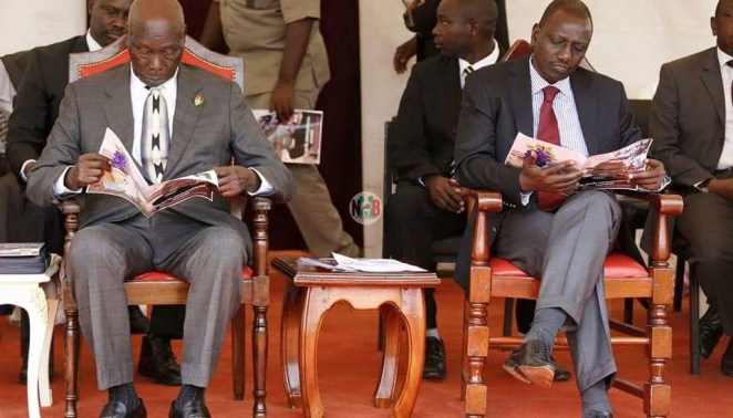 PHOTO|| Mzee Moi & DP Ruto Similarities That You Didn't Know