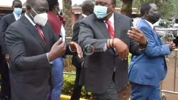 What Ruto Whispered to Uhuru Are They Toying With Raila?