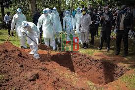 Sad! As Husband to the Teacher Who Died of Covid-19 Collapses During Her Burial