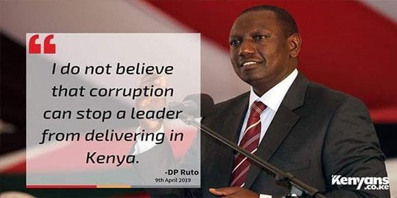 Ruto and corruption