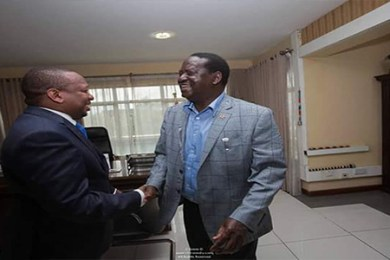 mike sonko and raila odinga