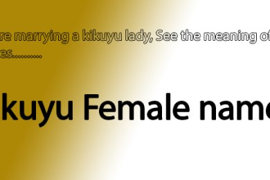 Kikyu female names