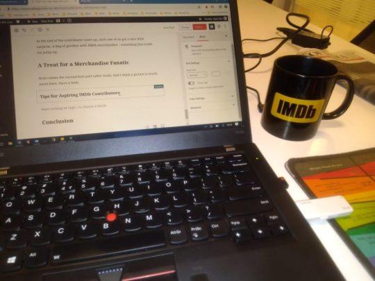 IMDb coffee mug