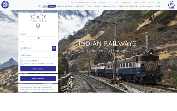 IRCTC.co.in in 2019