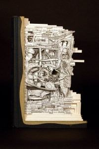 Brian Dettmer – 3D book carver