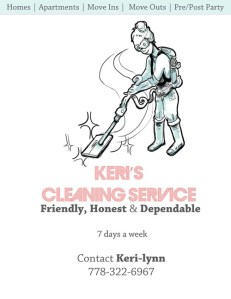 Illustration & Print Ad Design for Keri's Cleaning