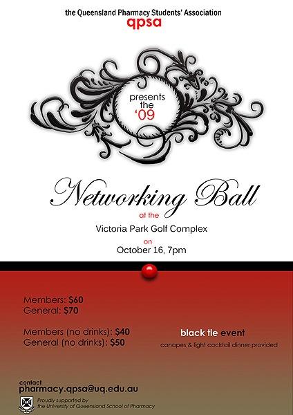 QPSA Networking Ball Poster Design
