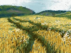 Barley Field Painting: Art Academy 3DS