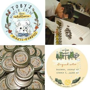 Salve Label Design: Toby's Winter Salve