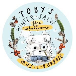 Toby's Winter Salve – Tin Label Design