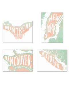 Illustrations: table signange for travel-themed wedding