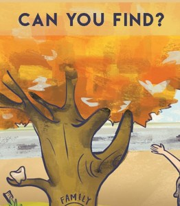 Illustration + Print Design [postcard]: Autumn Picture Search for Family Tree Dental