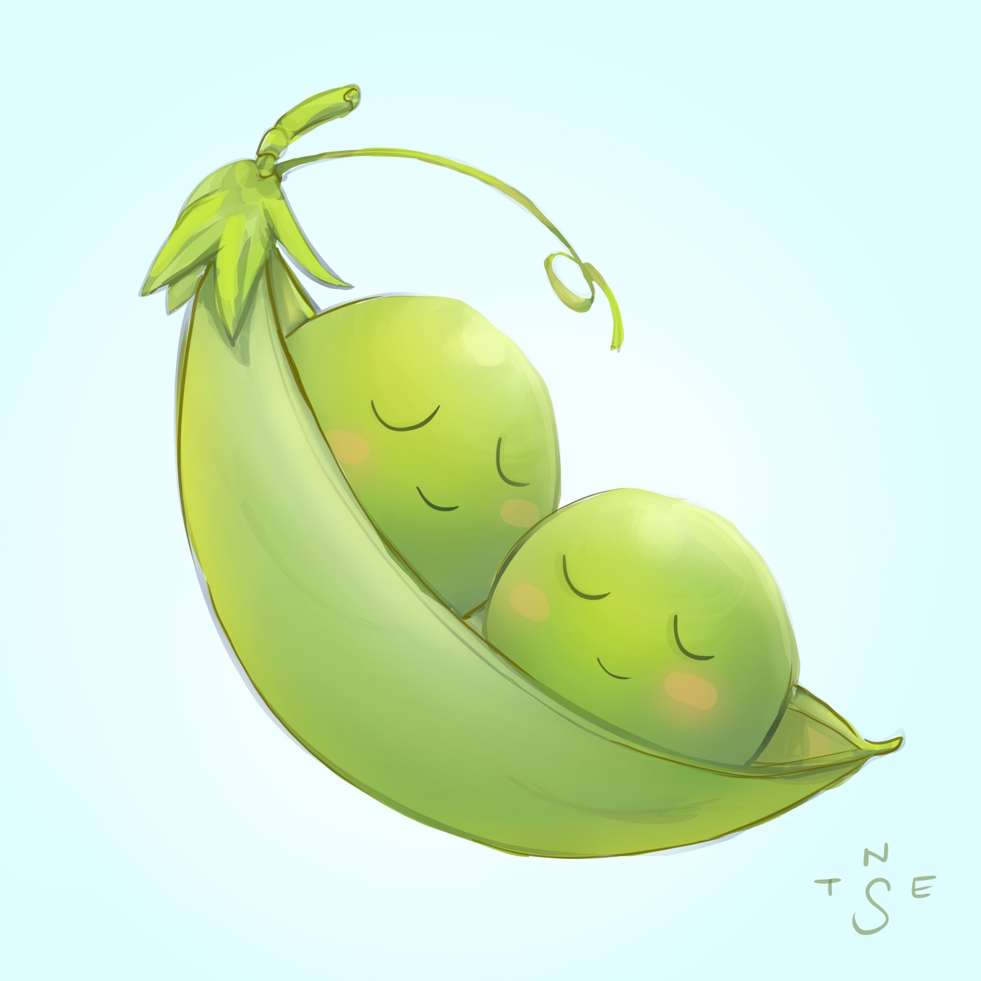 Timelapse Painting: 2 Peas in a Pod