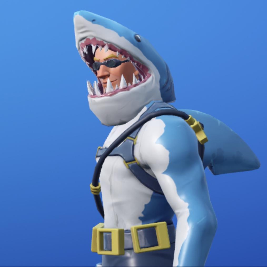 【フォートナイト】サメ男スキン ガブリシニアとツルハシとグライダーの日本名と英語名【再販】