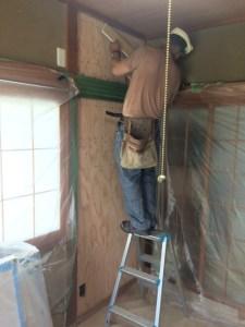 構造用合板で補強の上、PB張り