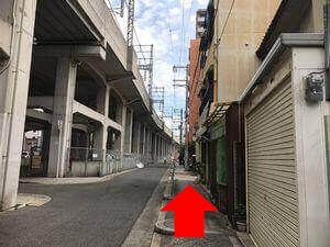 近鉄今川駅からのルート写真5