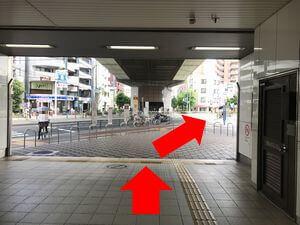 田辺駅から中橋整骨院へのルートの図3