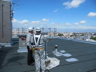 屋上より札幌市内を望む