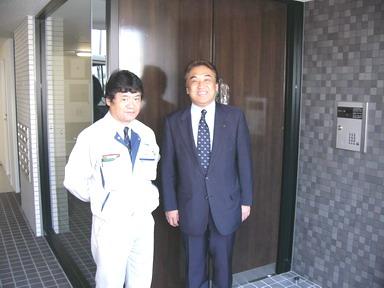 中山社長と森下係長(写真左)