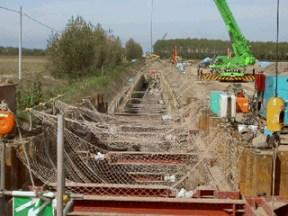 管水路工 鋼管布設状況(道々より下流工区)