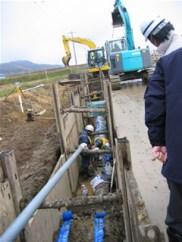 施工中の管工事
