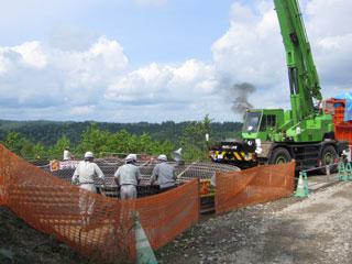 発進立坑掘削の様子