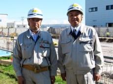 左から佐藤現場代理人、中山社長