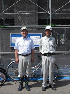 左から釜山所長、中山社長