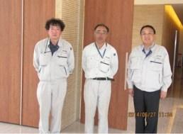 左から 木村さん、嶋木さん、中山社長