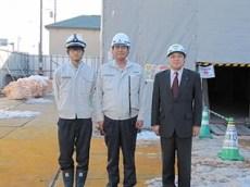 左より横山さん(佐藤工務店)、長谷川課長、中山社長