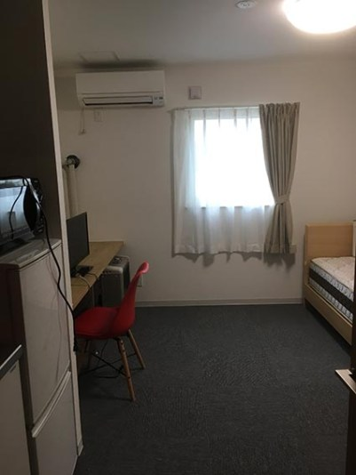 A棟の室内   A棟とB等の内装デザインを変えているのは田村次長のアイディアです。