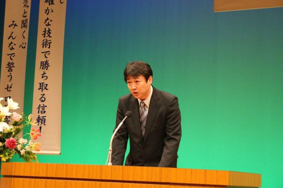 決意表明 建築事業部松本さん