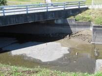 落水した用水路です