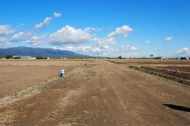 この先にも中山組が施工する美唄元村揚水機場の現場があります