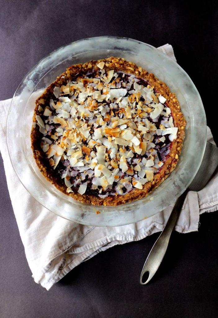 cardamom plum and berry tart